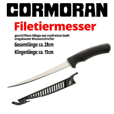 Cormoran Filetiermesser in Scheide Messerschleifer Messer Knife 28cm Länge NEU