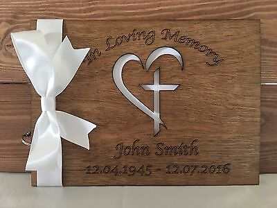 Personalised Condolence Book Bereavement Funeral Memorial Guest Book Scrapbook