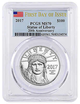 2017 $100 1 oz. American Platinum Eagle PCGS MS70 First Day of Issue SKU45820
