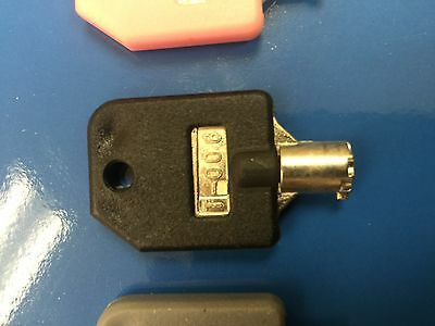 Tubular Lock Key T-006 BLACK for 1800 Candy Machines, 1-800 Vending Machine