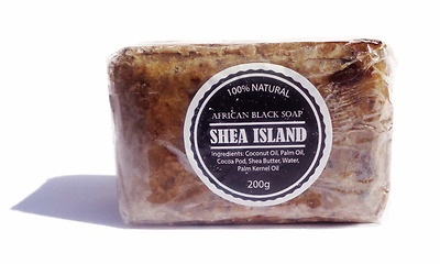 Organic African Black Soap 100% Natural Suitable For All Skin Types - 200g