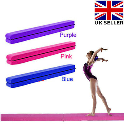 7FT 2.1M Folding Balance Beam Gymnastics Faux Suede Home Gym Training Equipment