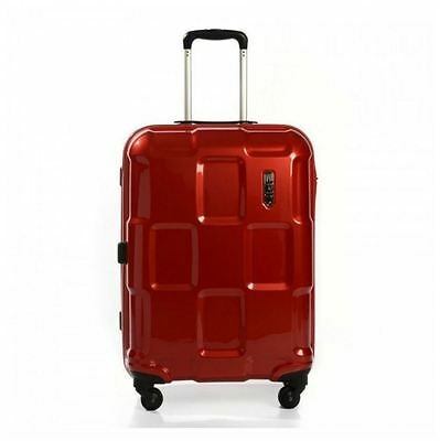 New Epic Crate 55 Cm 4 Wheel Spinner Trolley Case Red Polycarbonate Luggage Bag