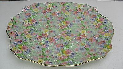 Royal Winton MARION chintz lugged cake plate