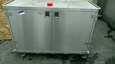 Metro Enclosed Commercial Cart Kitchen Food Catering Rolling Stainless Steel