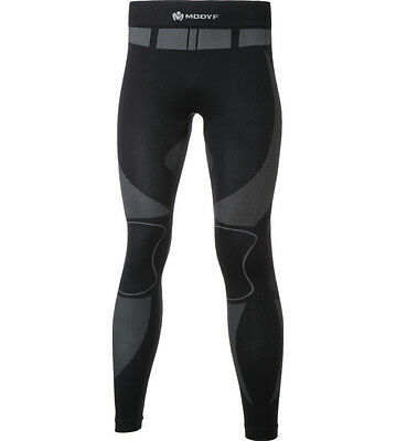 Thermo Unterwäsche Long Tight Active schwarz grau