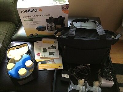 EUC Medela Pump In Style Tote Advanced Double Breastpump with Accessories