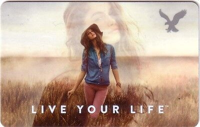American Eagle outfitters live your life COLLECTIBLE Gift Card New No Value
