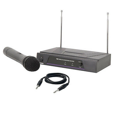QTX VH1 Quality VHF Wireless Handheld Radio Microphone Mic System 173.8MHz +Case