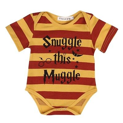 Snuggle This Muggle Summer Striped Baby Romper Bodysuit