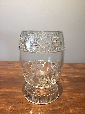 Eapg O'hara Glass Clear Lens And Star Pattern Spooner Circa 1887
