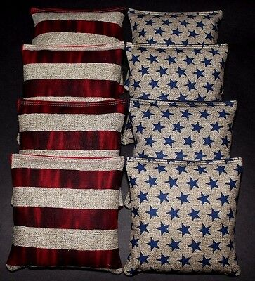 Stars and Stripes Patrotic USA Freedom 8 ACA Regulation Corn Hole Game Bags