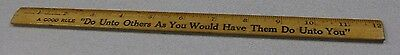 ''Do Unto Others As You Would Have Them Do Unto You ''Coca Cola  12 Inch Ruler