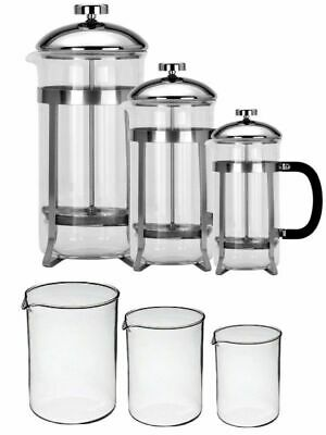 Toughened Glass Pyrex Glass Cafetiere 8 Cup 6 Cup 3 Cup Coffee Plunger