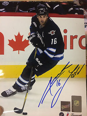 Autographed 8X10 Photo - Andrew Ladd - Winnipeg Jets - Comes with COA