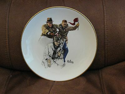"""Norman Rockwell Fall """" Cheering The Champ"""" Plate"""