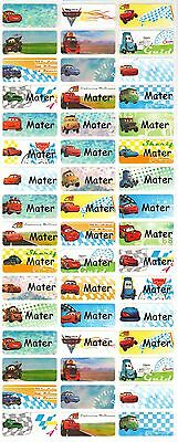 Personalized Name labels Waterproof stickers, 36 Cars , day care, school
