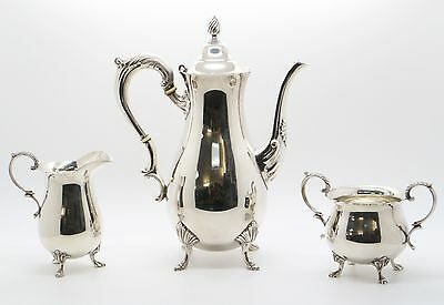 Sterling Silver Coffee Tea Set 925 Teapot  / Sugar Bowl / Creamer