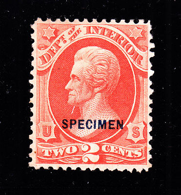 US O16S 2c Interior Department Specimen F-VF NGAI SCV $140