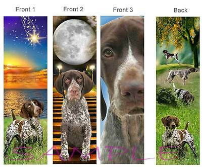 3-GERMAN SHORTHAIRED POINTER BOOKMARK ART Dog Book Mark Card Figurine Ornament