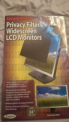 """Kantek Secure View Privacy Filter Widescreen 24"""""""