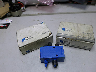REXROTH MECMAN - Quantity of 2 - Pilot operated AIR VALVES Type 840 -