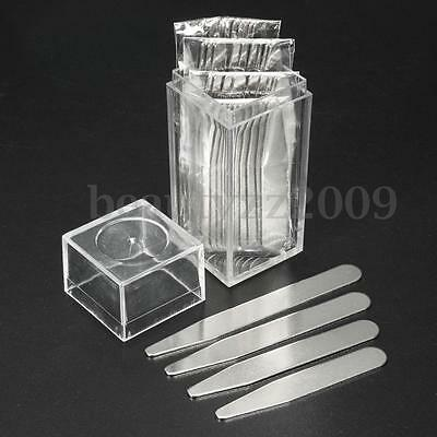 40PCS 4 Size Stainless Steel Collar Stays Bone Stiffeners For Men Shirt With Box
