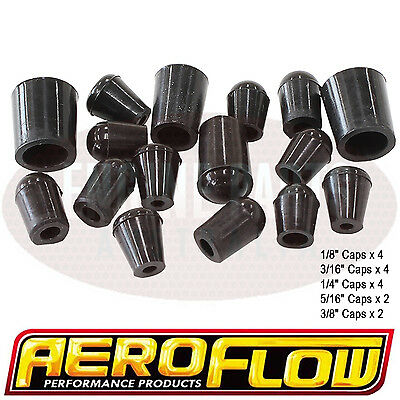 Holley Demon Quick Fuel Edelbrock Carburetor Vacuum Cap Blank-Off Plug Set