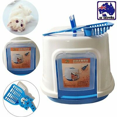 Cat Pet Toilet Litter Box Portable With Scoop Totally Enclosed PTOI51006