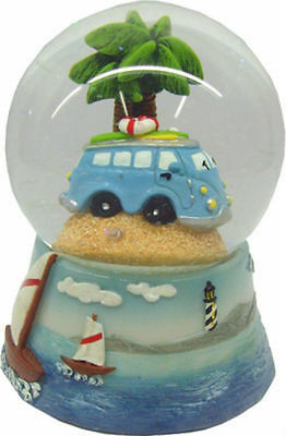 NEW VW Volkswagen Blue Combi Kombi Surfy Van Waterball Snowglobe 65mm
