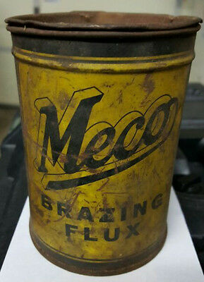 Vintage MECO  Brazing Flux Metal Tin Can