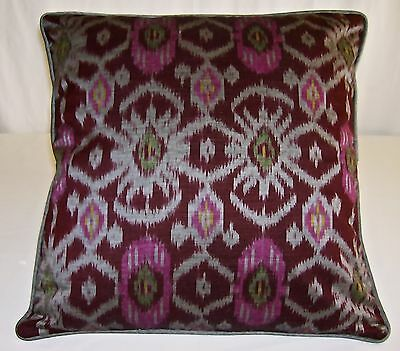 Cotton Ikat cushion cover hand crafted 40 cm x40   Free postage