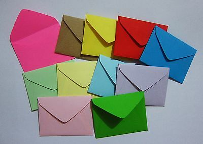 "Handmade small envelopes 1-1/2""x2"" tiny little mini fairy note scrapbook cute"