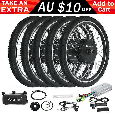 "26"" 250W 1000W Electric Bicycle Conversion E-Bike Front Rear Wheel Kit 36V 48V"