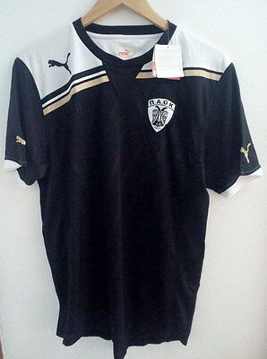 Paok Salonica Authentic Football Shirt By Puma Large New With Tags Greece