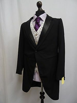 Men's Vintage Bespoke 1920's Morning Coat Swallow Tail Tailcoat Size 38R SS8136