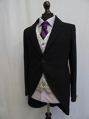 Men's Vintage Bespoke 1920's Morning Coat Swallow Tail Tailcoat Size 36R SS8137