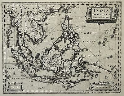Janssonius: Original Kupferstich Landkarte Indonesien Philippinen Asien; 1633