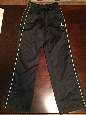 Boys Size Medium And One Sweatpants Black With Gold Piping