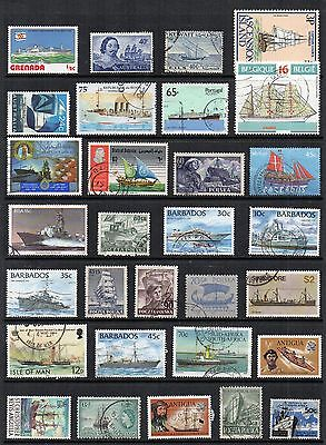BOATS SHIPS Thematic STAMP COLLECTION Mint Used Ref:TS196