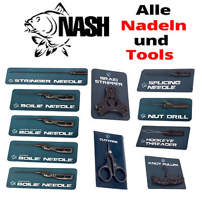 Nash Needle und Tools - alle Modelle - Stinger, Bolie, Drill, Splicing, Cutter..