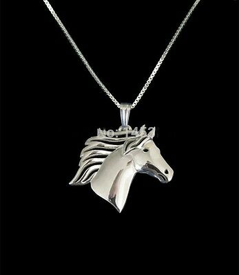Beautiful Horse Pendant Necklace Silver ANIMAL RESCUE DONATION