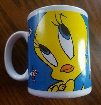 Warner Bros Looney Tunes Tweety Bird Coffee Mug Gibson 1998