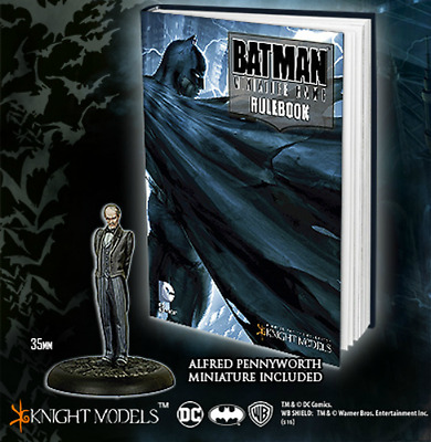 Batman Miniature Game: Deluxe Rulebook LIMITED EDITION w/ Alfred Pennyworth