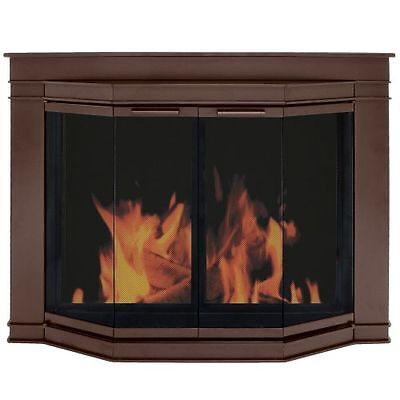 Fireplace Glass Doors Pleasant Hearth Grantham Model Oil Rubbed Bronze-Free Ship