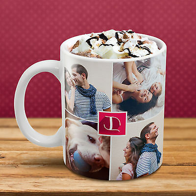 PERSONALISED COLLAGE MUG Custom LOVE Design YOUR PHOTO IMAGE TEXT Perfect Gift!