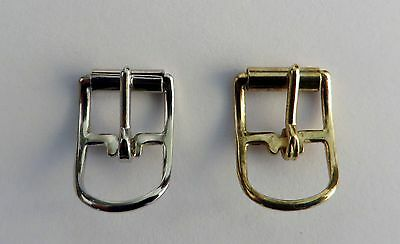 """10 Tiny Brass Or Nickel Plated Roller  Buckles 3/8"""" - Doll - Craft - Strap"""