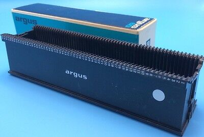 Argus 60 Capacity 35mm Slide Magazine Tray w Box Spill Proof Spacesaver Vintage
