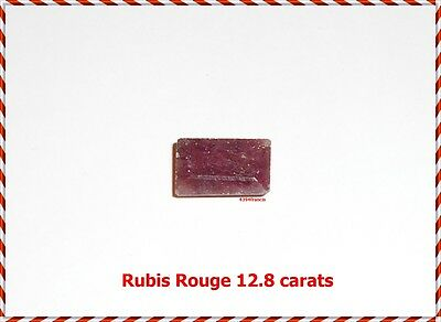 Red Ruby +++ Pierre Naturelle +++ RUBIS Rouge 12.8 Carats +++ Untreated Natural