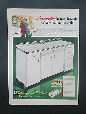 """Vintage 1954 Youngstown Steel Kitchens Print Ad, 14"""" X 10.25"""""""
